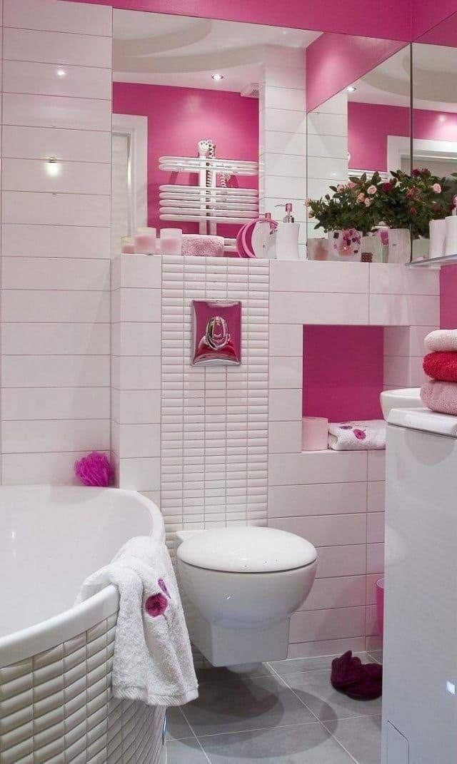 Розовые ванные комнаты маленькие дизайн